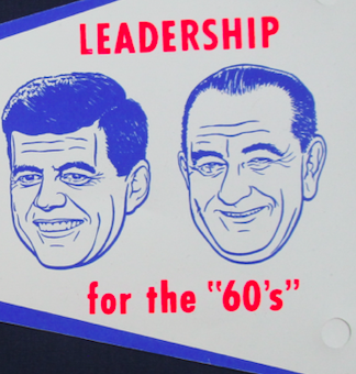 Image for Paper flag, John F. Kennedy (Democratic party)