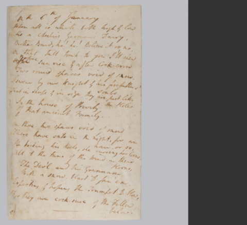 Image for Samuel Taylor Coleridge, 'The Two Round Spaces on the Tombstone', manuscript on paper, 1800