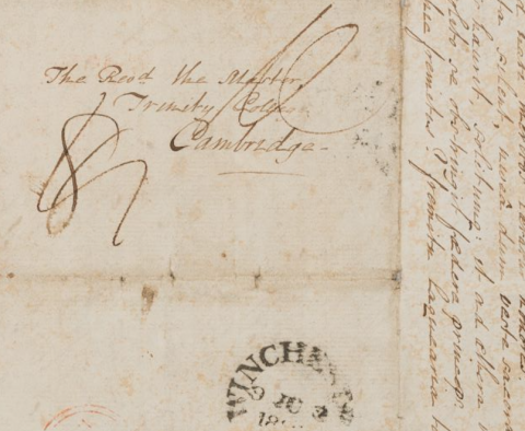 Image for Letter from John Wordsworth to his father Revd Wordsworth