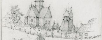 Image for Drawing of the church at Piteå 1