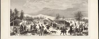 Image for Lithograph of a Saami market
