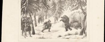 Image for Lithograph of a bear hunt