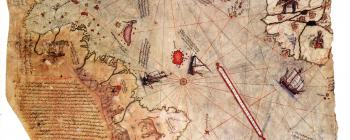 Image for Surviving fragment of the world map of Piri Reis (1513)
