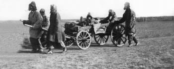 Image for Famine Refugees pulling an Arba, Kazakhstan, early 1930s